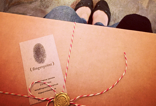 fingerprint design's photo of a delivery for a bride