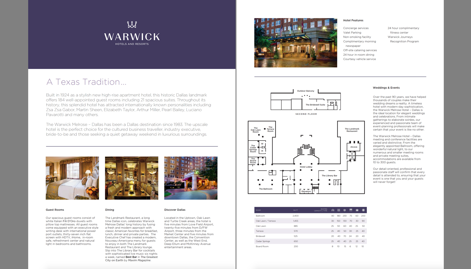 fingerprint design's closeup photo of the Warwick Hotel's design project