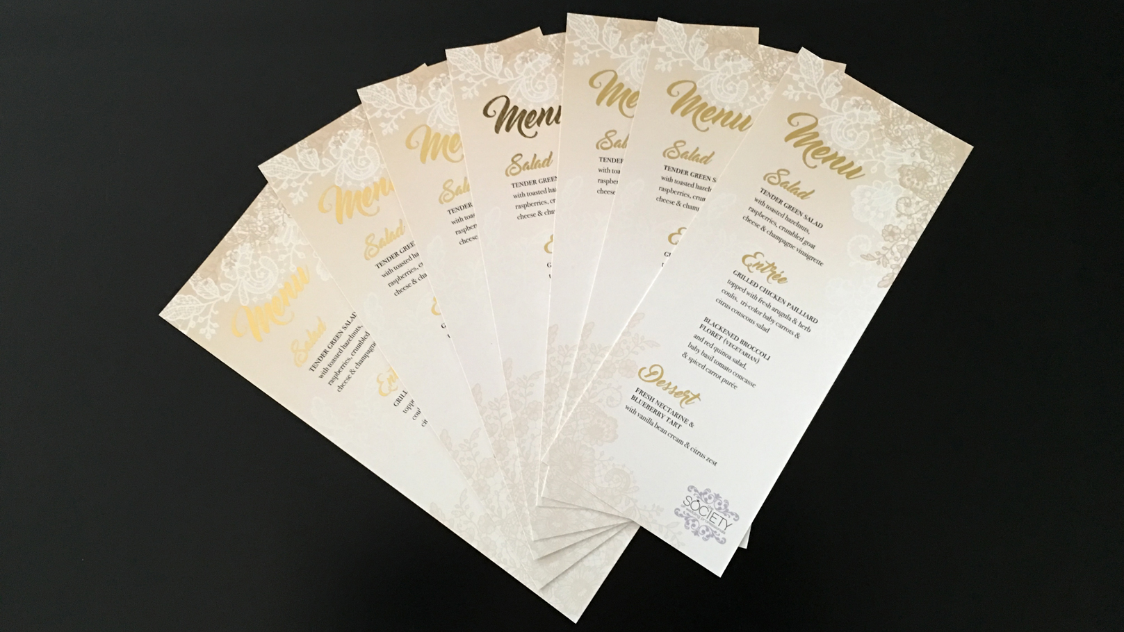 fingerprint design's photo of Society of Wedding Professionals' Menu